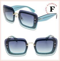 MIU MIU REVEAL Sunglasses MU01RS Turquoise Blue Azure Glitter Gradient 0... - $336.60