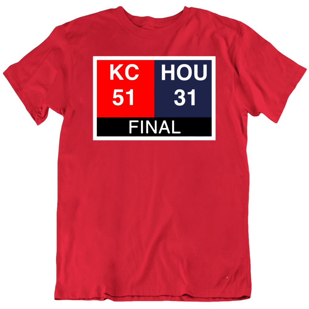 Primary image for Kansas City Comeback Scoreboard Football Fan T Shirt