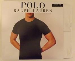 2 POLO RALPH LAUREN SIZE LARGE WHITE SLIM FIT COTTON STRETCH CREW NECK T... - $29.80