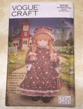 "Vogue Craft Early American 18""Doll Outfit Sewing Pattern 8336 Uncut Vint... - $11.75"