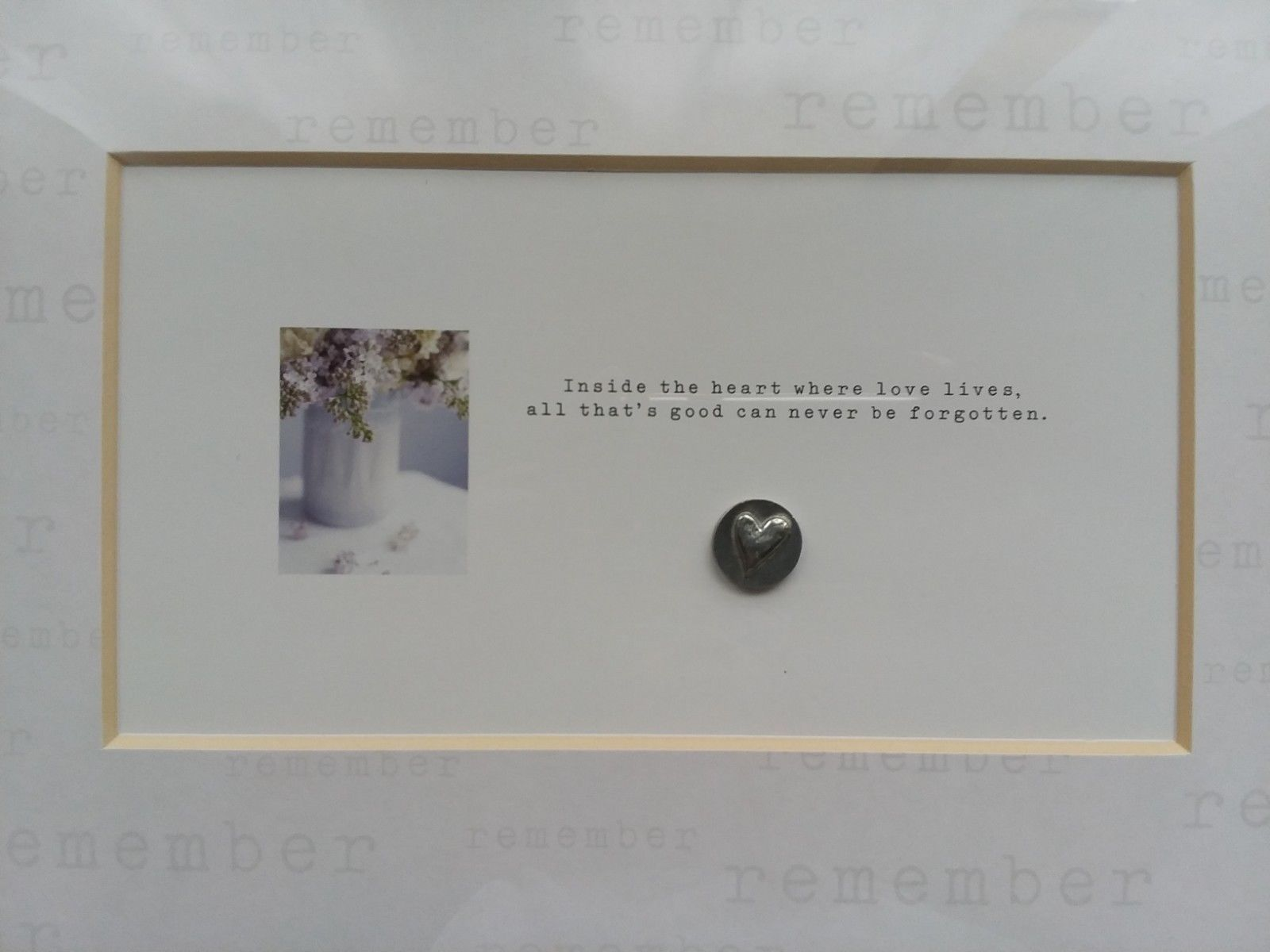 """Remember Love Gift Picture Framed Plaque Wall Hanging 12 1/2"""" x 8 3/4"""" Hallmark"""
