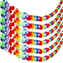 Aneco 6 Pk Colorful Hawaiian Luau Tropical Flower Lei Garland Party Deco... - $14.00