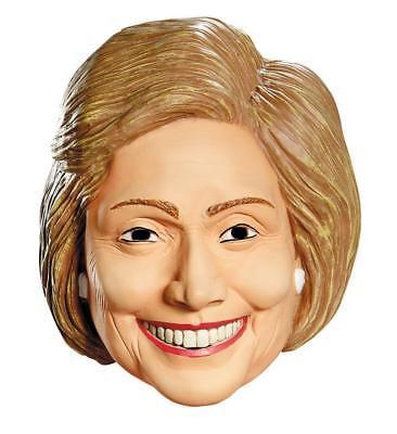 Hillary Clinton Mask Vinyl Political First Lady Adult Halloween Costume DG87552