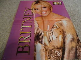 Britney Spears Eminem teen magazine poster clipping shirtless looking tough Bop