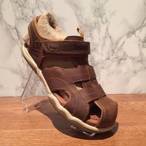 TIMBERLAND YOUTH OAK BLUFFS LEATHER FISHERMAN SANDALS COLOR~RUST 2975A. ... - $36.47