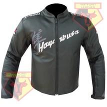 SUZUKI HAYABUSA GREY MOTORBIKE MOTORCYCLE COWHIDE LEATHER ARMOURED JACKET - $194.99