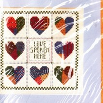 """Counted Cross Stitch Kit """"Love Spoken Here""""  From The Creative Circle - $5.95"""
