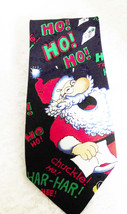 Hallmark Santa Laughing Tie - 100% Polyester - Made in the USA - Free Shipping! - $12.19