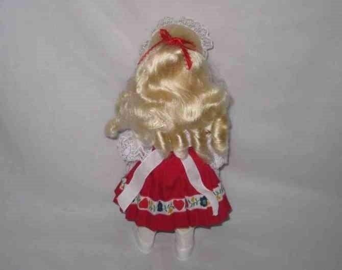 "Cute 11 1/2"" SWISS Girl Doll Traditional Dress"