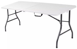 Cosco Deluxe 6 foot x 30 inch Fold-In-Table Blow Molded Folding White Table - $60.00