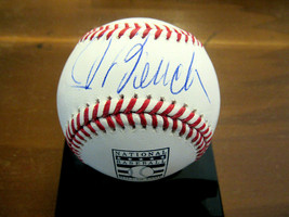 JOHNNY BENCH WSC CINCINATTI REDS CATCHER SIGNED AUTO HOF LOGO OML BASEBA... - $148.49