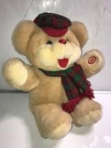 """15"""" Vintage Dan Dee Christmas Teddy Bear Giggle Light Up plush Animal Rare - $18.69"""