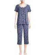 Secret Treasures Women's Short Sleeve V Neck Capri Pajama Set 2XL (18-20... - £21.74 GBP
