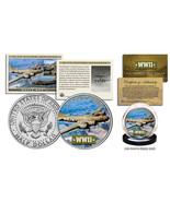 WWII * B-17 Flying Fortress Plane * JFK Kennedy Half Dollar US Coin w/ F... - $13.19 CAD