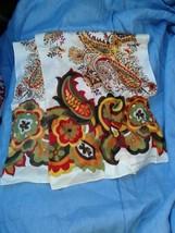 Adrienne Vittadini 100% Silk Floral Scarf - $18.34 CAD