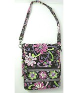 Vera Bradley PURPLE PUNCH MAILBAG PURSE Messenger Crossbody Shoulder Bag... - $35.53
