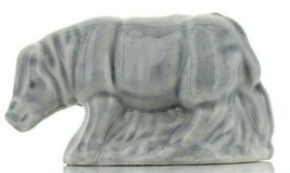 Gray Rhinoceros Miniature Porcelain Figurine - Whimsies by Wade
