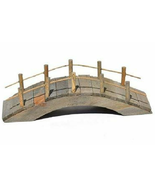 Rustic Brown Wooden Bridge, Wood Bridge with Rails, Gnome Bridge, Landsc... - $6.49