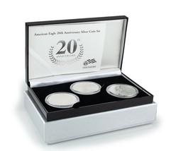 2006 20th Anniversary Silver American Eagle Set in Original Box w/ CoA 3 oz - $212.84