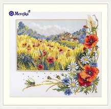 Cross Stitch Hand Embroidery Kit Beautiful Flowers - $42.15
