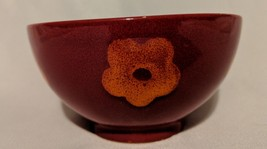 Waechtersbach Red  Soup Cereal Bowl with Orange Flowers Made In Germany - $7.69