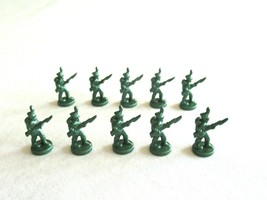 10x Risk 40th Anniversary Edition Board Game Metal Soldier Infantry Green Army - $16.99