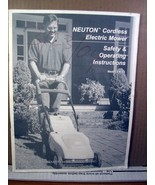Safety & Operating Instructions Neuton Cordless Electric Mower Model EM 4.1 - $8.99