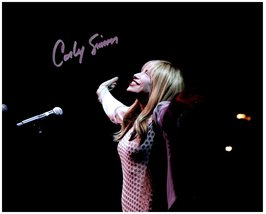CARLY SIMON Signed Autographed 8X10 Photo w/ Certificate of Authenticity... - $48.00