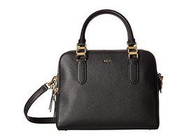LAUREN Ralph Lauren Women's Rawson Callie Medium Satchel Black Handbag - $341.04