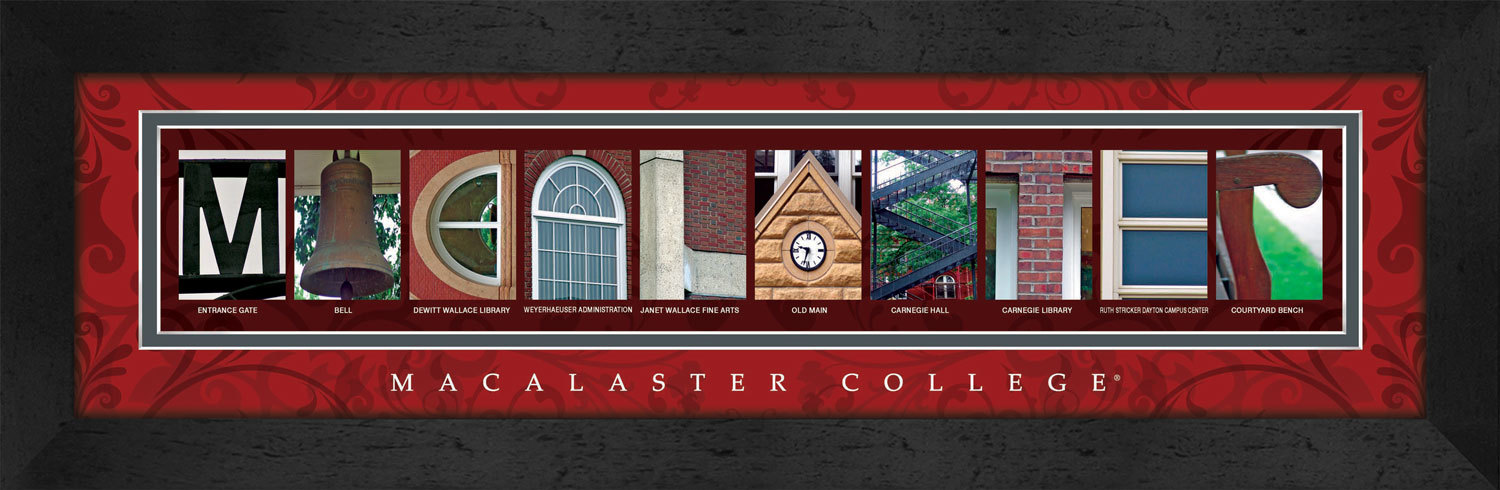 Primary image for Macalester College Officially Licensed Framed Campus Letter Art