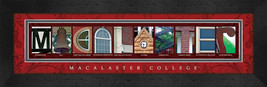 Macalester College Officially Licensed Framed Campus Letter Art - $39.95