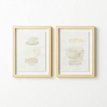 "Studio McGee Set(2) 12""x16"" Watercolor Abstract Framed Wall Art Threshold Target - $116.77"