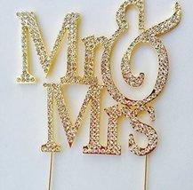 Mr & Mrs Monogram Cake Toppers Crystal Wedding Cake Topper Bling (Gold S... - $14.07