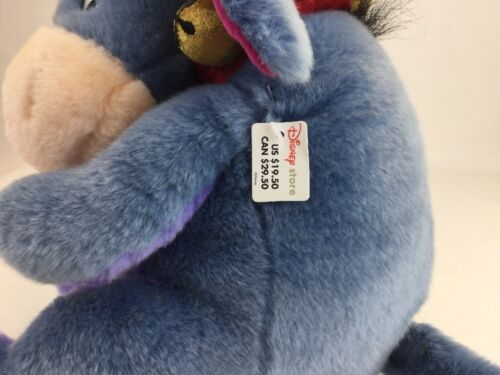 "Disney Store Exclusive Winnie Pooh Eeyore Donkey 13"" Christmas Reindeer Plush image 3"