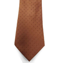 Kenneth Cole Brown On Brown Polka Dots Silk Tie Necktie image 2