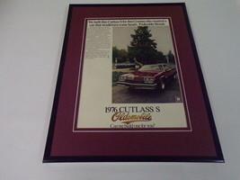 1976 Oldsmobile Cutlass S Framed 11x14 ORIGINAL Vintage Advertisement - $34.64