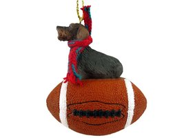 Wire Haired Dachshund Red Gift Box Ornament - $17.99