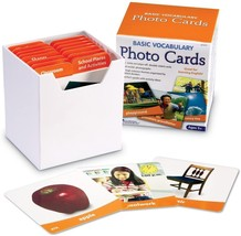 Learning Resources Basic Vocabulary Photo Cards, Vocab/Phonics Learning,... - $22.99