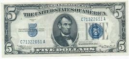 1934 $5 FIVE DOLLAR SILVER CERTIFICATE-CRISP AU CIRCULATED NOTE-FREE S/H... - $28.95