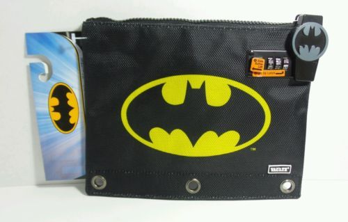 DC COMICS BATMAN VAULTZ POUCH SECURE COMBINATION LOCK 3 RING BINDER