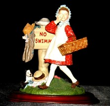 Days to Remember - Norman Rockwell Girl No Swimming Figurine  AA19-1649  Vintage