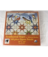 FEATHERED STARS Puzzle by Rebecca Barker 500 piece Jigsaw Puzzle BIRDS Q... - $14.95