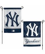 "NEW YORK YANKEES  2 SIDED 12""X18"" GARDEN FLAG NEW & OFFICIALLY LICENSED - $11.60"