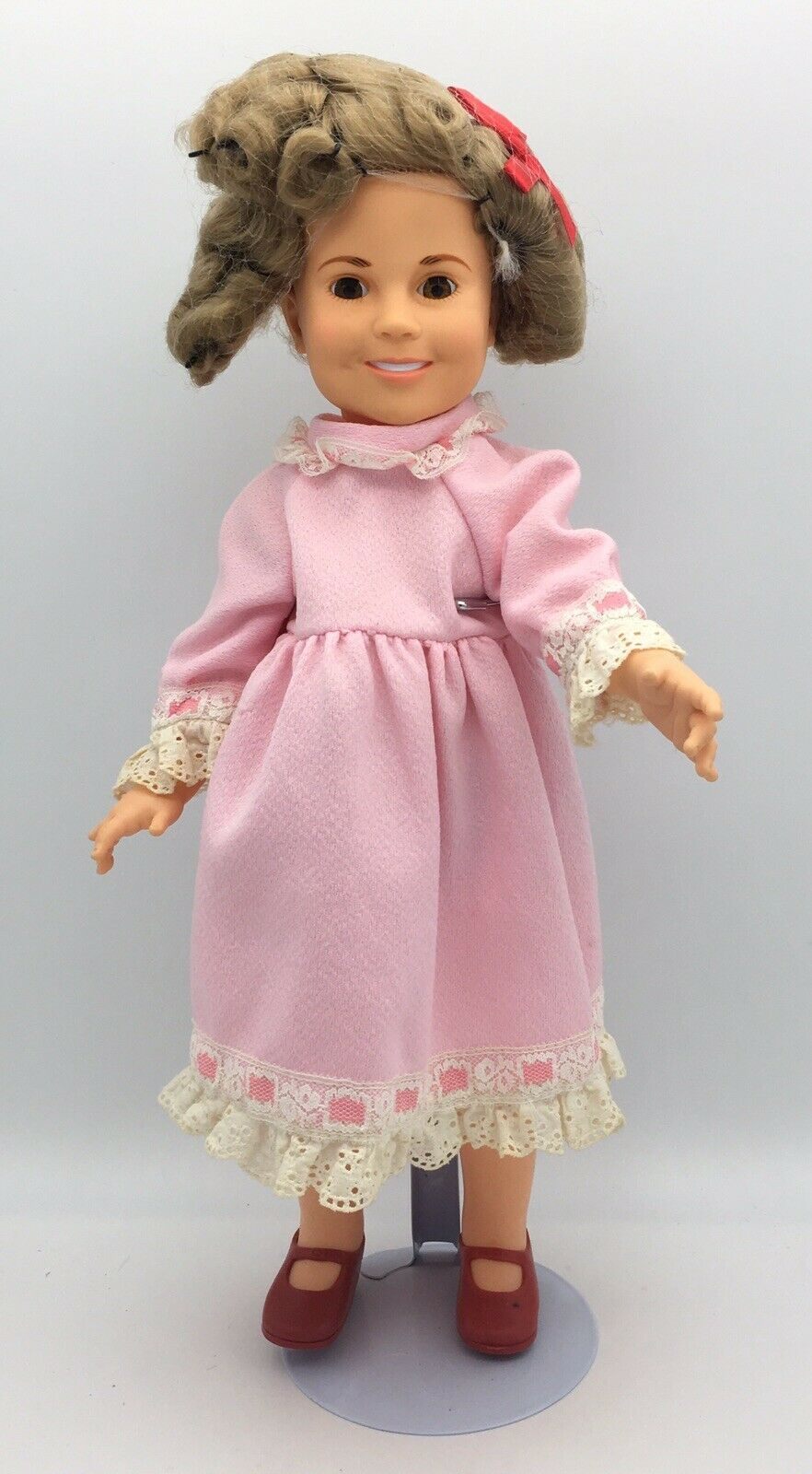 Primary image for Vintage Ideal Shirley Temple Doll 1972 Pink Dress 17""