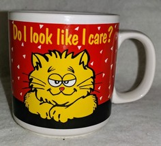 Funny CAT MUG - DO I LOOK LIKE I CARE? Coffee Cup Cats Lovers Kitten Kit... - $9.99