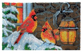 Winter Cardinal Rug Latch Hooking Kit (85x58cm) - $75.99