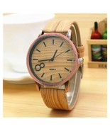 Top Famous Women Watch Brown Leather Wristwatch Analog Clock Retro Jewel... - $4.99