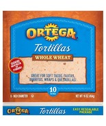 Ortega Tortillas, Whole Wheat, 8 Inch, 10 Count Pack of 12 - $31.57
