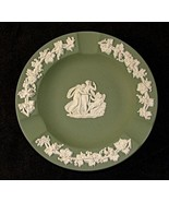 Wedgwood Green Jasperware Ashtray or Pin Dish Cupid Sleeping - $9.75