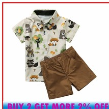 Boys Clothing Sets Toddler Baby Boys Gentleman Style Cartoon Bear Print ... - $24.97+